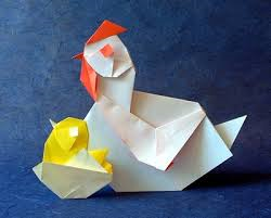 Giant Origami Chicken