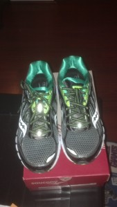 My lean and mean Saucony sneaks