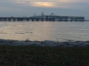 The Chesapeake Bay Bridge at Dawn