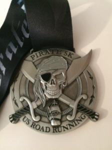 Pirate 5K (Gray) Medal